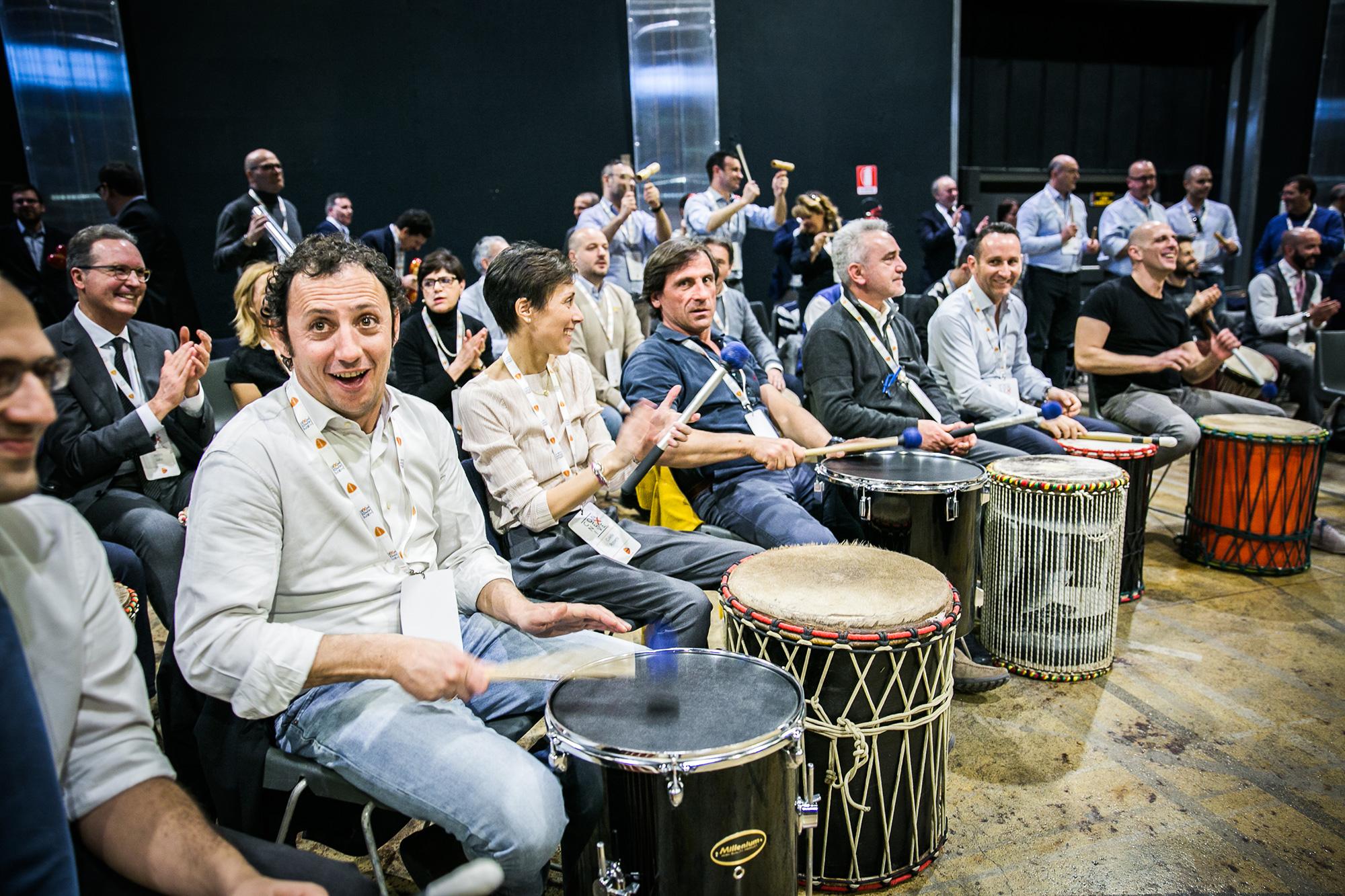 Team Building con la Musica di inizio 2020 per Bayer e Wittur